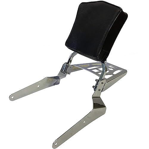 2002-up Yamaha Road Star Warrior XV1700 Sissy Bar Backrest Pad Cushion Chrome
