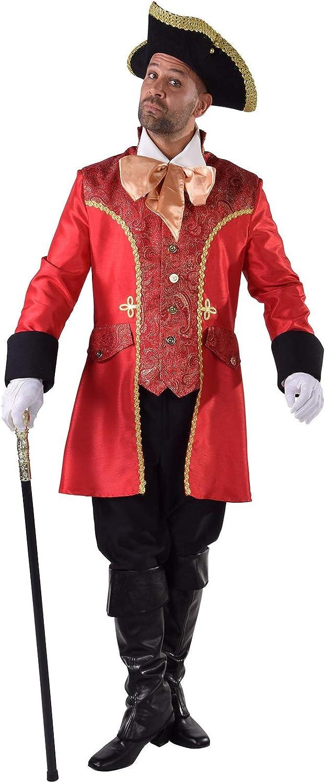 M216210-S rot Herren Barock Kostüm Captain Hook Gr.S B07HTZ6DCY Niedrige Kosten  | ein guter Ruf in der Welt