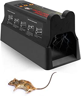 Suminey Electronic Rodent Zapper - Effective & Humane Mouse Trap That Works for Rats, Mice –Electric Pest Control Zapper Trap, 7000v Shock Instant Exterminator with Anti-Escape Door (2020 New Version)