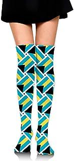 バハマの旗 オーバーニー ソックス レディース ニーソックス ハイソックス 美脚 着圧 保温 防寒 かわいい 通学 通勤