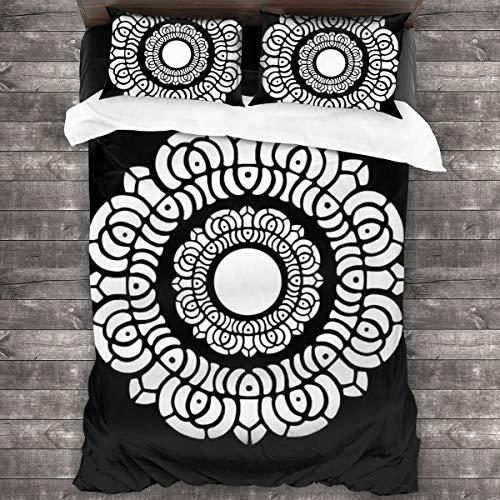 KUKHKU Avatar Legend Of Korra White Lotus Juego de ropa de cama de 3 piezas, funda de edredón de 86 pulgadas x 70 cm, juego de cama de 3 piezas decorativas con 2 fundas de almohada