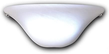 It's Exciting Lighting IEL-4300 Frosted Marble Glass Half Moon Sconce With Frosted Marbleized Glass Shade In Half Moon Shape, Battery Operated With No Electrical Outlet Required