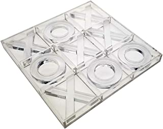 OnDisplay Luxe Acrylic Tic Tac Toe Set, Clear