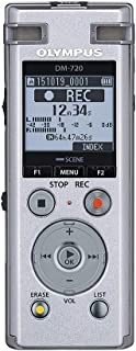 Olympus Voice Recorder DM-720 with 4GB, Micro SD Slot, USB Charging, Direction PC Connection, Transcription Mode, Silver