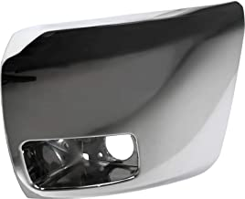 Front Bumper End Compatible with CHEVROLET SILVERADO 1500 2007-2013 LH Chrome Plastic Face Bar Cap with Fog Lamps