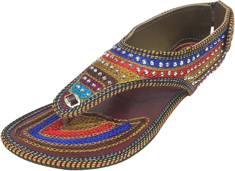 Step n Style Traditional Sandals Flat Mojari Ethnic Sandals Beaded Sandals Jutties