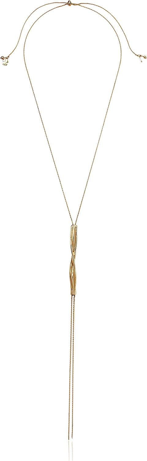 Lucky Brand Jewelry Metal Bar Y Necklace, Gold