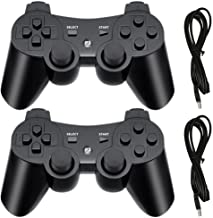 $21 » PS3 Wireless Controller, Playstation 3 Controller, Wireless Bluetooth Gamepad with USB Charger Cable for PS3 Console, 2 Pack