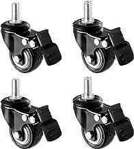 Zwenkwielen Set van 4 zware zwenkwielen Bewegende wielen Zwart 40,50 mm Antislip rubberen zwenkwiel voor meubels Tafelwage...