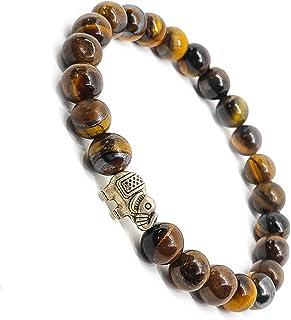The Bling Stores Natural & Original Tiger Eye Stone Bracelet for Will Power/Reiki- Healing Energy Stone Bracelet, Unisex (...