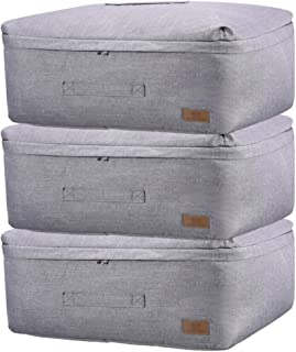 Sacs pour vêtements 3 pièces Grand sac de rangement épaissie à trois couches en tissu sac de rangement sous le lit de stoc...