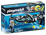 PLAYMOBIL Agentes Secretos Mega Drone, Color Negro (9253)