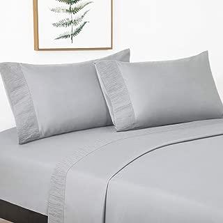Bedsure Juego de Sábanas 150x200/190 cm - 4 Piezas - Sá