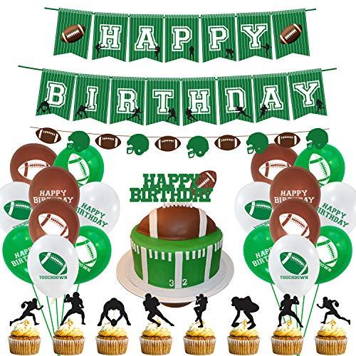 MIFIRE Fußball Sport Themed Geburtstag Dekorationen Happy Birthday Girlande mit Luftballons für Kinder Jungen Herren Geburtstag Party