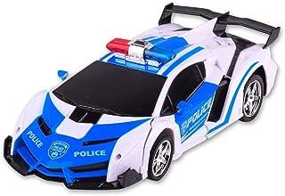 MUMUMI Induktion Transformers Fernbedienung Autorennen Lade Roboter-Kind-Spielzeug Jungen-Geschenk 2.4G RC Deformation Autobots ABS Stunt Car 360 /° Rotation Drift