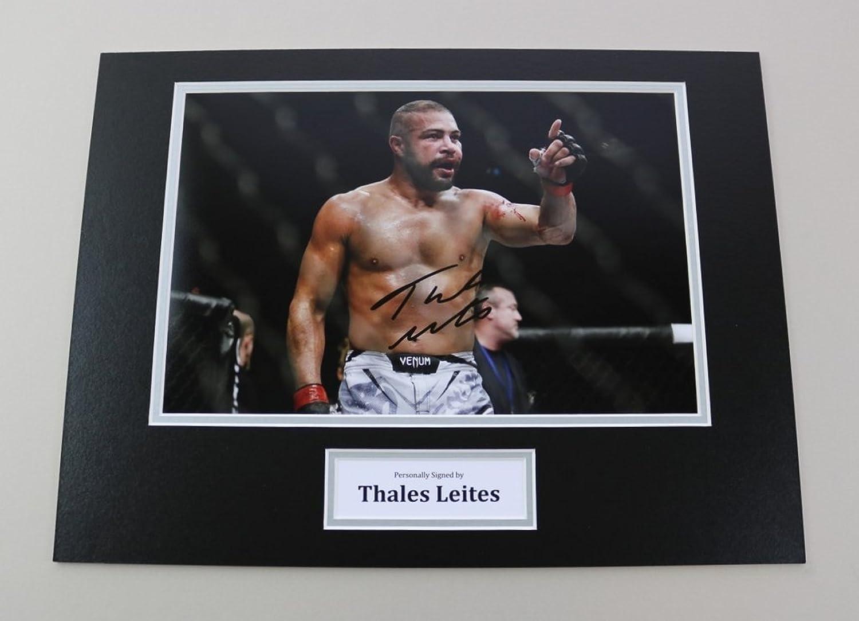 Thales Leites Signed 16x12 Photo Autograph Display UFC MMA Memorabilia + COA