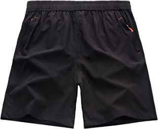 Mens Quick Dry Lightweight Athletic Running Shorts with...
