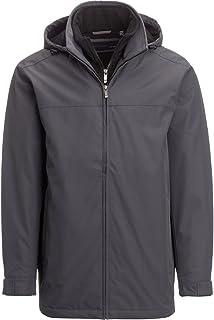 Weatherproof Ultra Tech Men's Jacket, Double Zip Hooded Water Repellant Coat