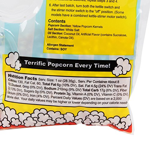 King All-In-One Kettle Corn Popcorn Kit for 6.1 oz. Popper - 24 Case