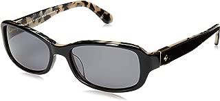 Kính mắt nữ cao cấp – Kate Spade Paxton2/S WR7 M9 Havana on Blue Plastic Oval Sunglasses Grey Polarized Lens