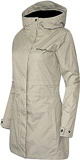 Columbia Womens Shine Struck II Waterproof RAIN Mid Hooded Jacket 2017 (1X, Beige)