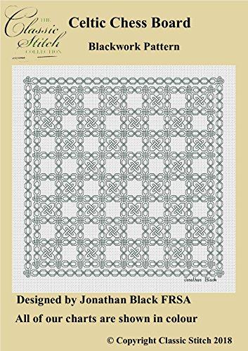 Celtic Chess Board Blackwork Pattern