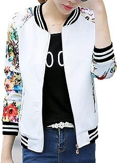 Energy Women's Print Zip Splicing Weekend Pinstripe Over Sized Coat Jacket