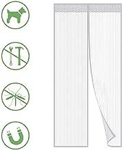 Cortina Mosquitera Para Puertas, Blanco Protección de Insectos Cortina Magnética,montaje Fácil con sin Taladros,para Puertas de Balcón, de Terraza