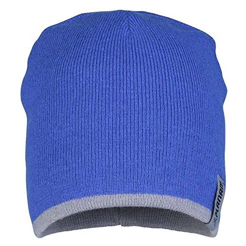 Planam Strickmütze 2-farbig, Universalgröße, zink, kornblau / mehrfarbig, 6020052