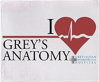 CafePress I Heart Grey's Anatomy Stadium Blanket Soft Fleece Throw Blanket, 50