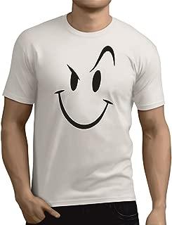 YouWe Fashion Men's Cotton Smiley Icon Printed Half Sleeve Round Neck T-Shirt