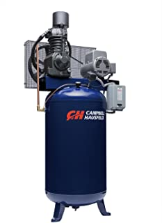 Campbell Hausfeld Air Compressor, 80 Gallon Vertical Two Stage 25CFM 7.5HP 208-230V