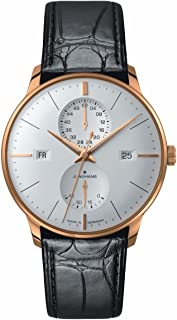 Watch Mens Meister Agenda Rose Gold PVD Case Matte-Silver Dial Day Date Week 027/7366.01