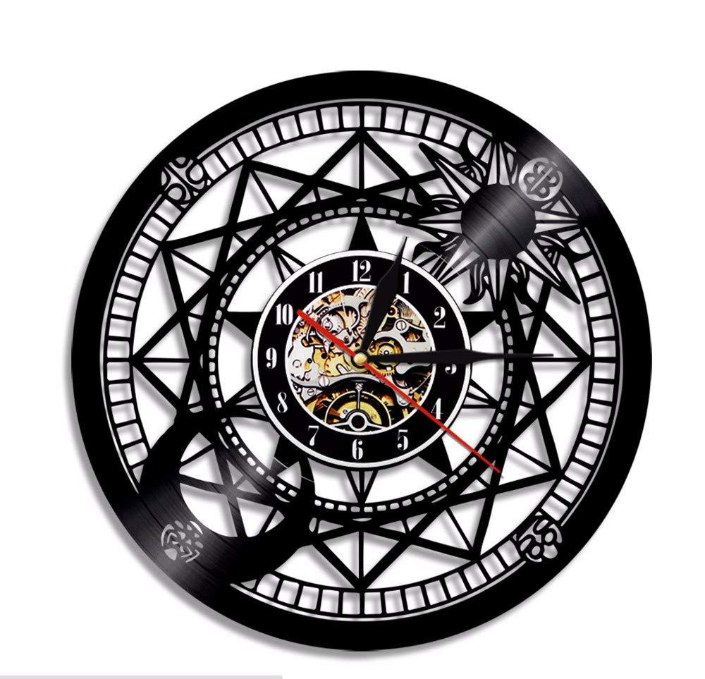 Ytdzsw 1 Pi/èce Astronomie Art Disque Vinyle Horloge Murale D/écor Jumelles T/élescope Vintage Cadeau Cr/éatif Hanging Art Horloge