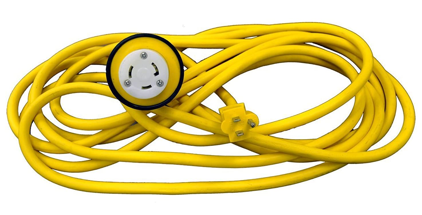 RV Power Cord 100 foot 15 amp to 30 amp Adapter with Hubbell Connector L5-30R