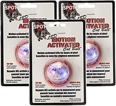 Ethical Pet 3 Pack of Motion Activated Cat Ball Cat Toys by Ethical Pet