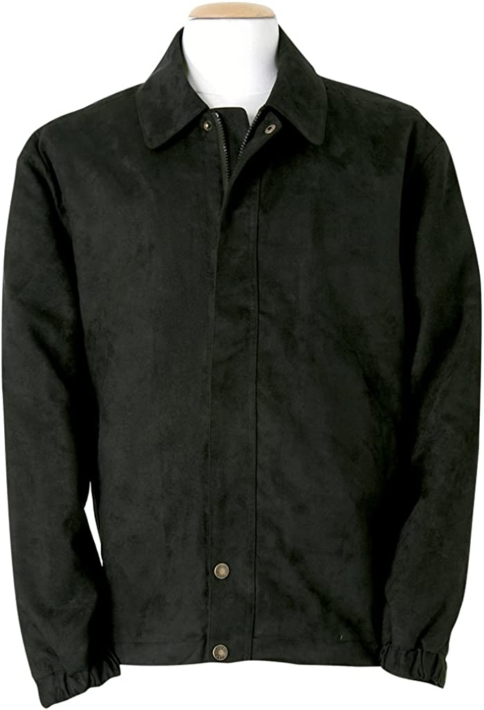Monterey Club Men's Microfiber Suede Full Zip Jacket #1717