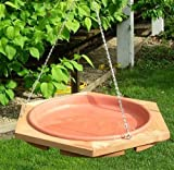 Looker Products 17 Hanging Classic Cedar Bird Bath with Removable Pan""