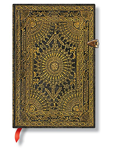 Ventaglio Barockfächer Marrone - Notizbuch Mini Flexi Liniert - Paperblanks
