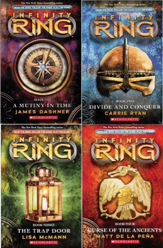 Compare Textbook Prices for Infinity Ring™ Starter Pack : First Four Books of the Series Included : #1: A Mutiny in Time, #2: Divide and Conquer, #3: The Trap Door, #4: Curse of the Ancients Infinity Ring  ISBN 9780545657907 by James Dashner,Carrie Ryan,Lisa McMann,Matt de la Pena