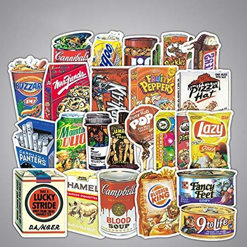 PMSMT 10/30/50 Uds, Productos de Embalaje de Parodia, Marca de Marea Impermeable, Equipaje de Viaje, Pegatinas de Equipaje para Ordenador, Venta al por Mayor