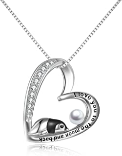 POPLYKE Lucky Elephant Tree of Life/Koala/Unicorn/Owl/Wolf/Penguin/Panda Pendant Necklace Animal Necklace Jewelry Gifts for Mom Woman Men