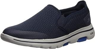 Skechers Men's GO Walk 5-APPRIZE Slip On Trainers, Blue (Navy Textile/Synthetic/White Trim NVY), 15 (50 EU)
