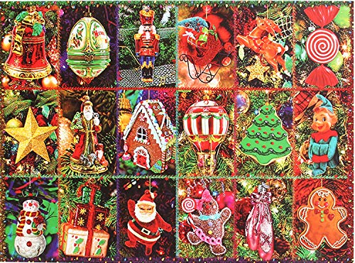 Christmas Jigsaw Puzzle ,Merry Christmas 1000 Piece Jigsaw Puzzle, Game Xmas Gifts for Adults Kids,Home Decoration,Office Wall Decoration Painting (Merry Christmas)