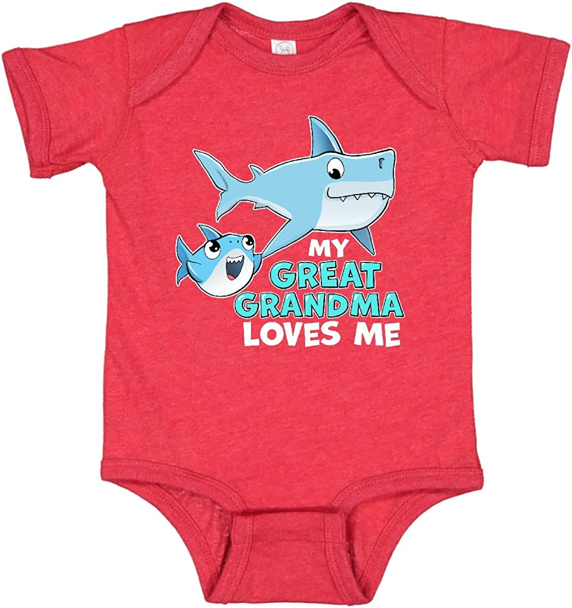 inktastic Super sale My Great Grandma Loves Me Cute gift Sharks with Cree Infant