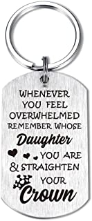 Daughter Son Keychain Whenever You Feel Overwhelmed Remember Whose Straighten Your Crown Birthday Gifts Inspirational Jewelry