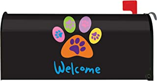 Toland Home Garden Welcome Paws Cute Puppy Dog Paw Magnetic Mailbox Cover