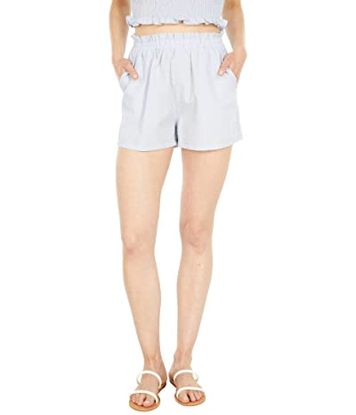 Blank NYC Pull-On High-Rise Gingham Shorts in Sweet Escape