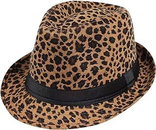 Leopard Print Fedora Soft Outdoor Hat Cap Men Women Jazz Hat