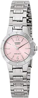 Casio Women's Pink Dial Stainless Steel Analog Watch - LTP-1177A-4A1DF